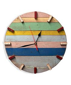 Love this Huntington Spree Reclaimed Wood Wall Clock by Bambeco on #zulily! #zulilyfinds