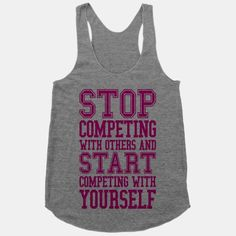 Compete With Yourself #fitness #workout #motivation #fitspiration #inspiration #girly #pink #competition #gym