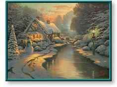 Christmas Evening by Thomas Kinkade