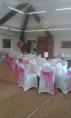 Wedding Chair Covers, Dance floor balloon and cloud displays, The Kingfisher golf centre, Milton Keynes