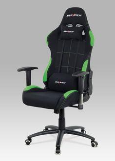 KA-F02 GRN Moderní kancelářská židle ve sportovním designu v černé látce se zelenými detaily se stane nezbytným doplňkem každého závodníka. Nejenže je perfektní svou funkčností, ale také svým jedinečným nadčasovým designem. Nosnost je do 130 kg. Gaming Chair, Furniture, Design, Home Decor, Decoration Home, Room Decor, Home Furnishings, Home Interior Design