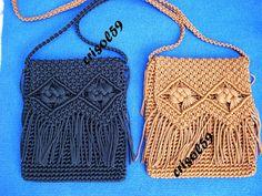 Crisol59 : Macramé y otras cosas: 03/01/2011 - 04/01/2011 Macrame Purse, Macrame Plant Hangers, Macrame Art, Macrame Projects, Macrame Knots, Macrame Jewelry, Crochet Projects, Diy Bags Purses, Diy Purse