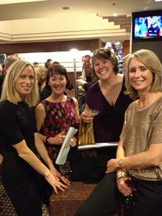 RWNZ Conference 2013: (left to right) Margaret Marbury, Jane Madison-Jones, Kristina O'Grady and Lily Shepherd