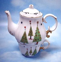 Christmas Trees Tea for One