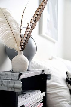 dreamcatcher, feathers in interior styling, feather styling, scandinavian interior, scandinavian love song. Interior Styling, Interior Decorating, Interior Design, Hope Is The Thing With Feathers, Bedroom Lamps, Vases Decor, Accent Pieces, Home And Living, Living Room