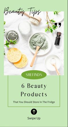 Certain beauty products are more beneficial when stored in the fridge. Check out which ones make the cut on SHEfinds.com! Makeup Tips, Beauty, Food, Essen, Make Up Tips, Meals, Beauty Illustration, Yemek, Makeup Tricks