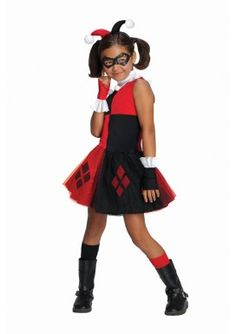 Disfraz de Harley Quinn tutú para niña