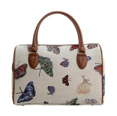 Signare Fashion Canvas /Tapestry Overnight Bag/Weekend Bag/Travel Duffle Bag/Hand-Luggage in Vintage Butterfly Design Signare, http://www.amazon.co.uk/dp/B007IRSNZ2/ref=cm_sw_r_pi_dp_.d7ctb0ZQTRKC