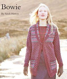 FREE Rowan pattern: Bowie by Sarah Hatton, in Rowan Fine Tweed