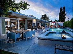 Leo Parrella Design Group Tony Curtis- Janet Leigh residence Movie Colony Palm Springs CA