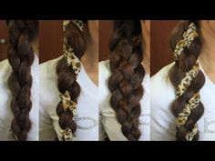 How to: 4-Strand Braid with Wrap-Around Scarf Hairstyle