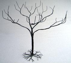 Wire Tree  Wire Tree Sculpture  wire art jewelry stand by KunsWerk, $35.00