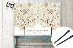 Sign tree guest book for wedding baby shower by LongSundayStudio