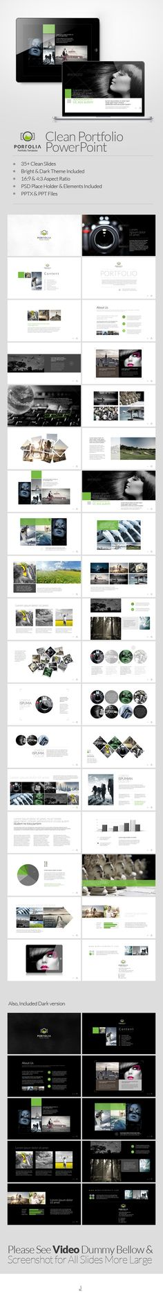 Portolia Multipurpose Clean Portfolio Powerpoint - Business PowerPoint Templates