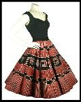 ohhh, I would so love to dance in this 1950's Mexican handpainted circle skirt.