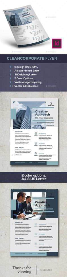 Clean Corporate Flyer Template InDesign INDD