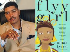 Photo of Urban Fiction writer (Omar Tyree) with a photo of one of their book covers - shows people the author behind their favorite works! | Urban Fiction Library Display