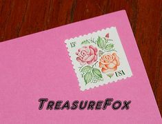 Reserved Custom Order for Negin .. Vintage MINT 15 cent postage stamps .. Garden Roses .. Pack of 60 stamps by TreasureFox on Etsy
