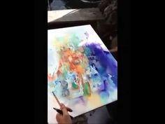 Yuko painting at Samae san Island,Thailand - YouTube