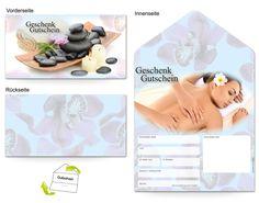 Motiv Frau Thai Massage - Gutscheinvorlagen