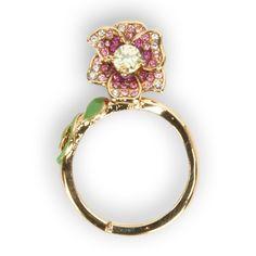 Juicy Couture Tropical Flower Mini Wish Ring #VonMaur #GoldandPink