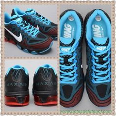 Masculino Mesh Jade Preto Vermelho Nike Air Max Tailwind 7 683632-109 chuteira a venda