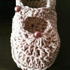 Sapatinho em crochê para bebês.