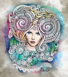 Zodiac illustration ARIES by balabolka , via Behance