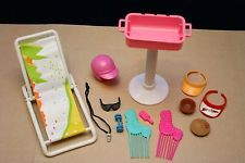 Vintage Barbie ~ SUMMER / BEACH / BBQ / ACCESSORIES ~ Doll House Accessory Lot