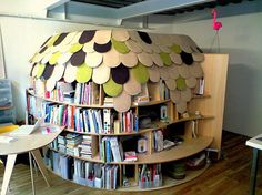 I searched easy to build book shelves....and this came up??? It is not easy whatsoever..but it is very cool looking and gatons of space...
