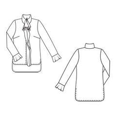 Блуза прямого кроя - выкройка № 135 из журнала 9/2011 Burda – выкройки блузок на Burdastyle.ru