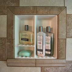 Recessed Bathroom Shower Niche Towel Warmers Shampoo Canada Soap Holder Shelf Dishes Tile