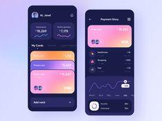 App Ui Design, Mobile App Design, Mobile Ui, Themes App, Card Ui, Delivery App, Website Design Layout, App Design Inspiration, Application Design