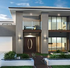 brisbane unique homes is a leading new home builders servicing Brisbane, House Front Design, Modern House Design, Custom Home Builders, Custom Homes, Dream House Exterior, Villa Design, Dream House Plans, Facade House, Luxury Homes