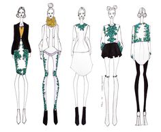 ISSA GRIMM: concept sketches issagrimm.com fashion design fashion illustrations #fashiondesign #fashionillustration