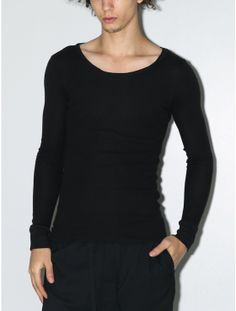 OAK thermal shirt tail tee black