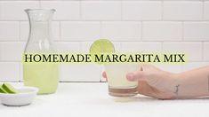Easy homemade margarita mix #margaritamix #margaritas #video #recipevideo