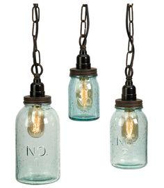 Mason jar lights are the ultimate in rustic decor.
