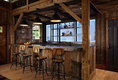 rustic wine cellar by Kelly & Co.