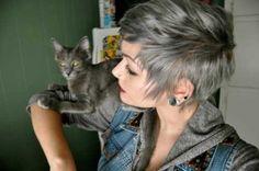Color Ideas for Short Hair 2013   Grey
