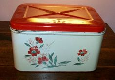 Vintage Bread Box Wild Roses  I have this exact tin, it belonged to my Grandma.