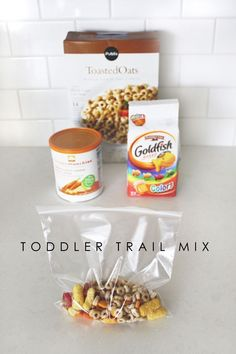Toddler snack mix for on-the-go hunger pains.