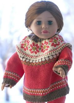 Strikk dukke genser Knitting Patterns, Sewing Patterns, Crochet Patterns, Wool Cape, American Doll Clothes, Bee Happy, Baby Born, Learn To Crochet, 18 Inch Doll