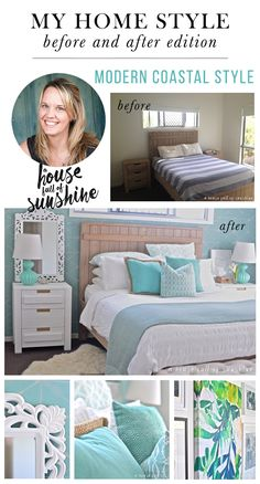 Gorgeous Master bedroom makeover from A house full of sunshine!