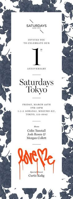 Saturdays Tokyo: Poster  http://www.fromupnorth.com/best-graphic-design-of-2015/