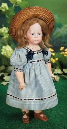 "What Frolicks Are Here: 206 Rare German Bisque Character ""Fany"" by Marseille"