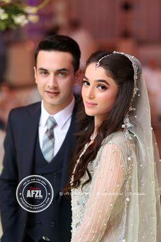 Nice couple Pakistani Bridal Makeup, Bridal Mehndi Dresses, Pakistani Wedding Dresses, Nikkah Dress, Couple Wedding Dress, Wedding Dress Sleeves, Wedding Couples, Wedding Outfits, Wedding Ideas