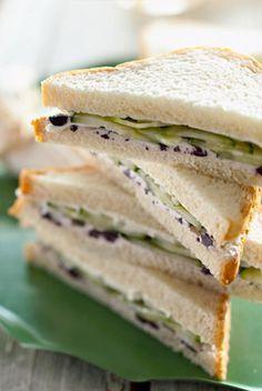 Cucumber, Vidalia Onion, and Cream Cheese Sandwiches