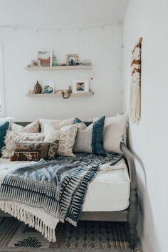 De verdad, estoy obsesionada con este tipo de habitaciones, ¡me encantan! #ThrowRugs