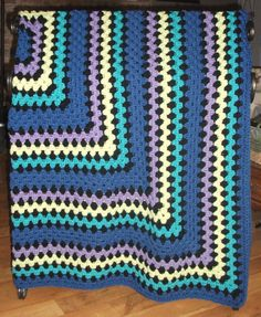 Afghan - Inspired by Vera Bradley Indigo Pop - Many Other Colors and Sizes Available - Handmade Crochet Blanket